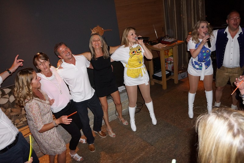 grosser Geburtstag im Belvedere Hotel in Scuol mit ABBA Programm