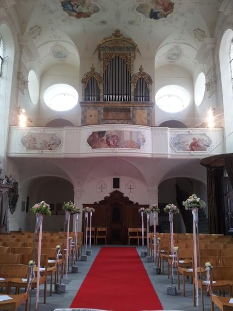 Hochzeit auf der Insel Mainau in der Schlosskirche St. Marien am Bodensee