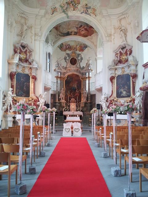 Kirchliche Hochzeit auf der Insel Mainau am Bodensee