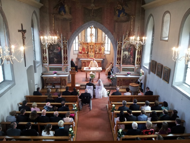 Kirche in Jona Rapperswil bei Zuerich - Hochzeit