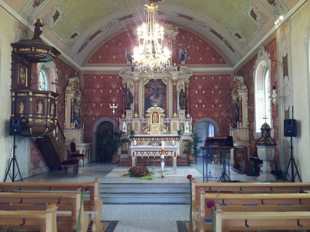 Kirche in der Schweiz am Bodensee bei Welfensberg