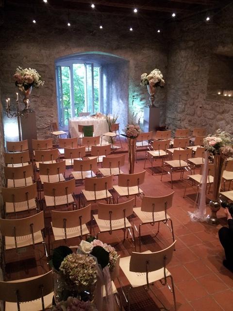Kapelle vom Schloss Wartensee bei einer zivilen Trauung