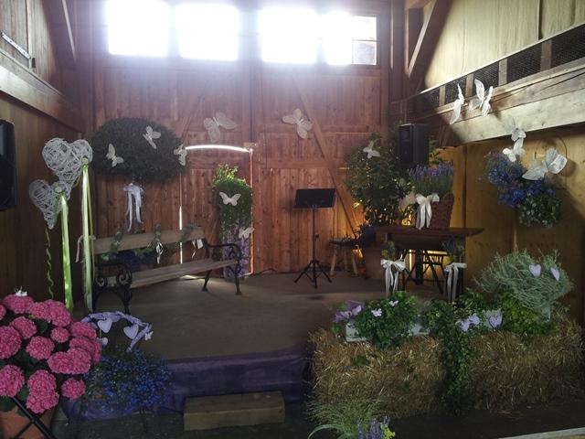 Hochzeitslocation Stallstube Dachsen freie Trauung mit Livegesang